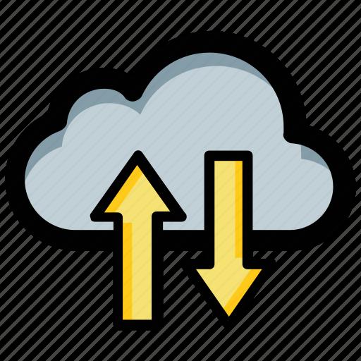 cloud computing, cloud data center, cloud data sharing, cloud network, cloud service icon