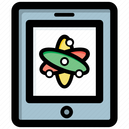 digital library, ebook, educational app, modern education, science app icon