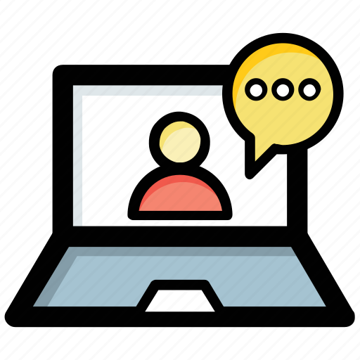 chat support, communication, video call, video chat, video conference icon