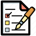 checklist, task list, to do list, work order, work plan icon