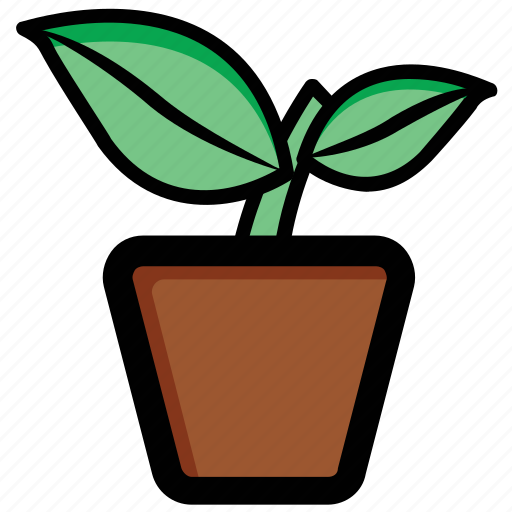 ecology, flower, gardening, plant, potted plant icon