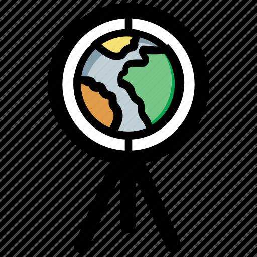astronomy, discovery, explore, planet, telescope icon