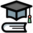 education, graduation, knowledge, scholarship, wisdom icon