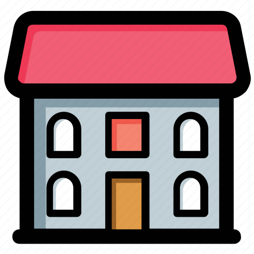 college, high school, real estate, school building, university building icon