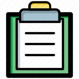 clipboard, file, list, notes, text document icon