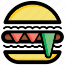 burger, fast food, hamburger, junk food, meal icon
