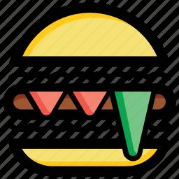 burger, fast food, hamburger, junk food, meal icon