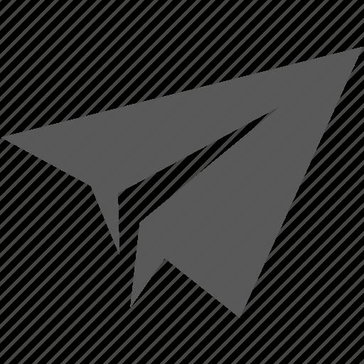 aero, airplane, airport, document, flight, paper, paper plane, plane, send icon