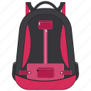 backpack, bag, school bag, student bag, travel bag icon