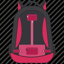 backpack, bag, school bag, student bag, travel bag icon