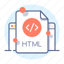 code, development, html, programming, website icon