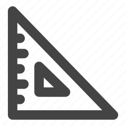 education, geometric, measure, ruler, school, student, triangle icon