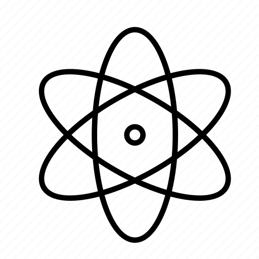 atom, education, nuclear, physics, science icon