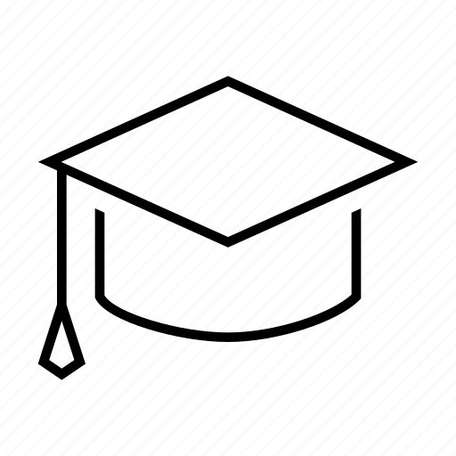 cap, collage, graduate, graduation, hat, school, university icon