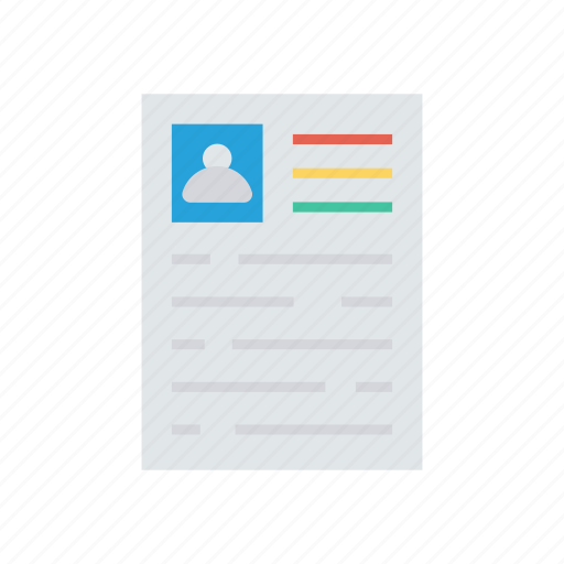 cv, document, page, paper icon