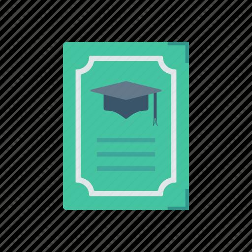 achievement, certificate, degree, document icon