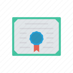 approved, certificate, degree, document icon