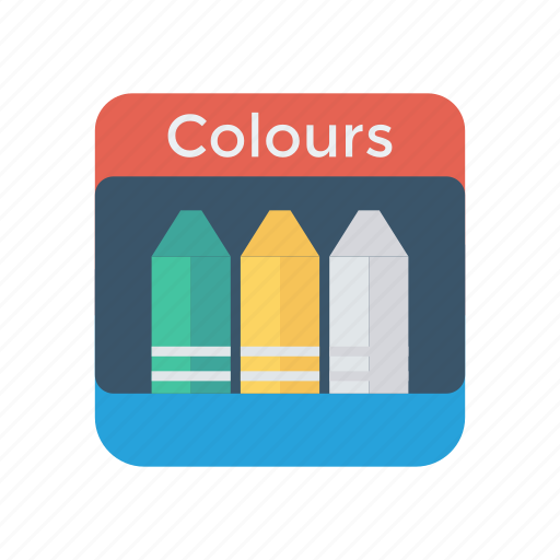 colors, drawing, pencil, tool icon