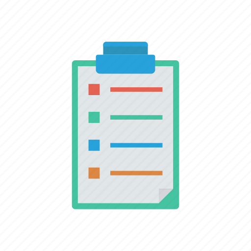 clipboard, document, page, paper icon
