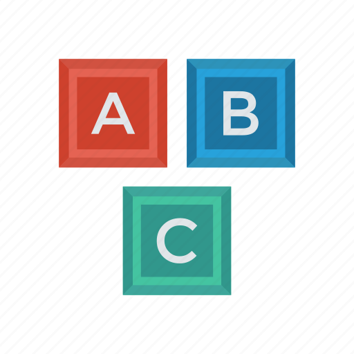alphabets, education, learning, school icon