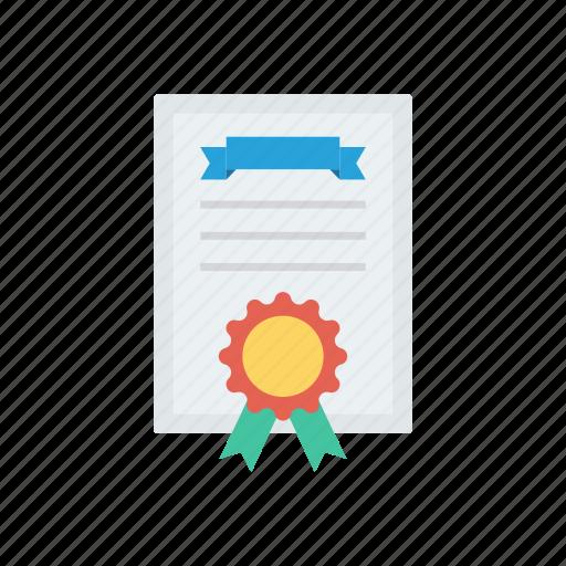 achievement, award, degree, diploma icon