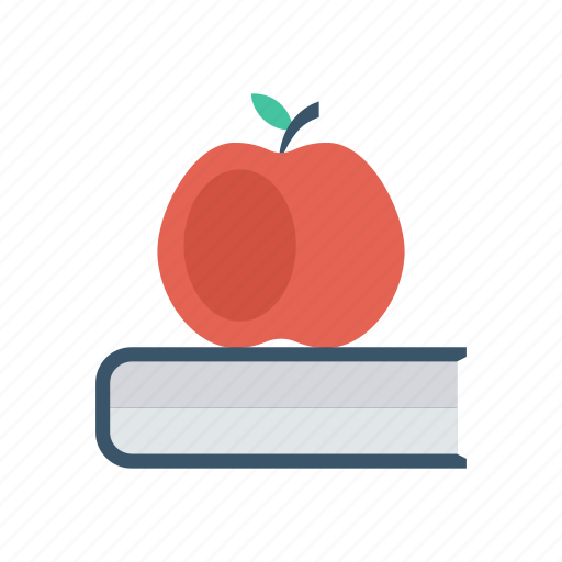 apple, book, education, study icon