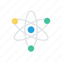 atoms, chemistry, molecules, science icon