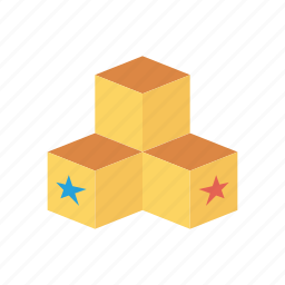 block, boxes, education, package icon
