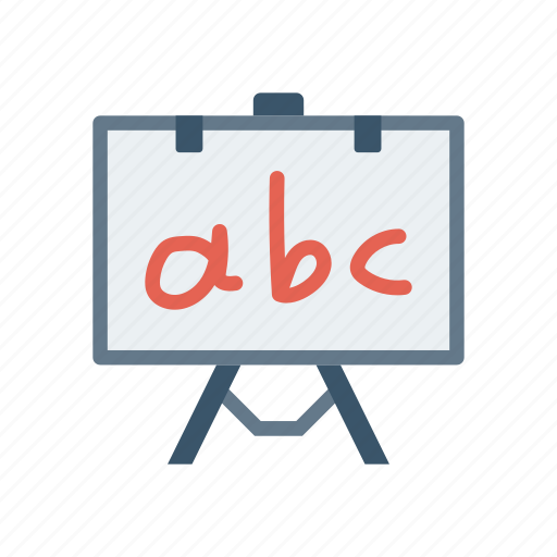 alphabet, board, presentation, teaching icon