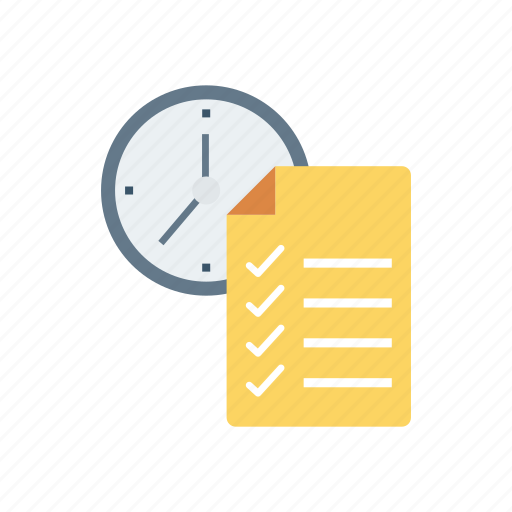 deadline, document, form, page icon