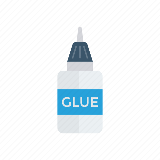 bottle, glue, office, tools icon