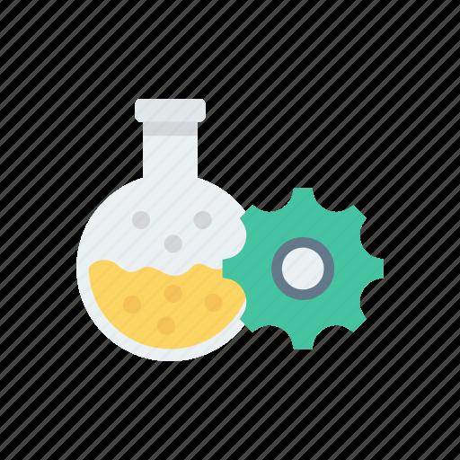 beaker, chemistry, lab, setting icon
