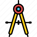 circle, compass, draw, drawing tool, geometry, stationary, tool icon