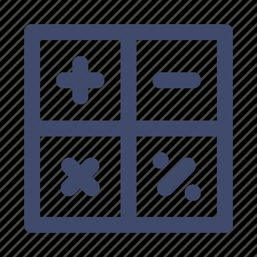 calculation, education, math, school, symbols icon