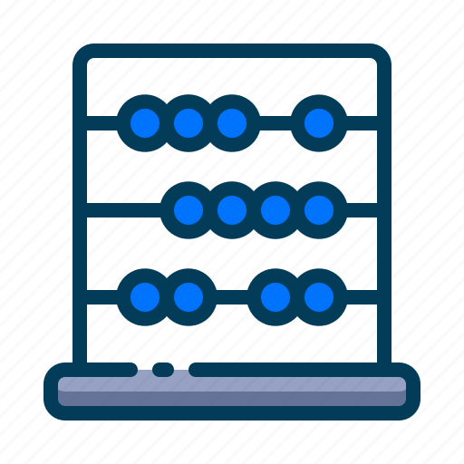 abacus, calculation, education, learning, math, school, student icon