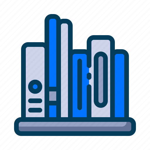 Books, bookshelf, education, learning, library, school, student icon - Download on Iconfinder