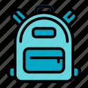 backpack, bag, travel, school, education, adventure, student