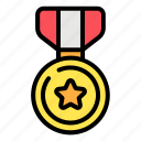 medal, ribbon, competition, award, victory, champion, gold