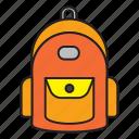 back, backpack, backpacker, school, university