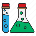 biology, bottle, physics, school, university icon