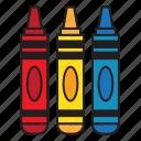 color, crayon, pencil, school, university icon