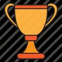 achievement, cup, school, sport, university icon