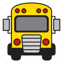 bus, school, school bus, university, vehicle