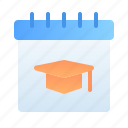 calendar, date, education, learning, schedule, school, student icon