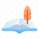 education, historical, history, learning, manuscript, school, student icon