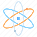 atom, education, learning, physics, school, science, student icon
