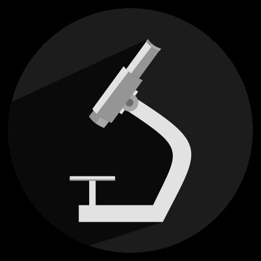 microscope, zoom icon