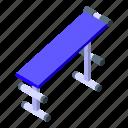 school, gym, bench, isometric