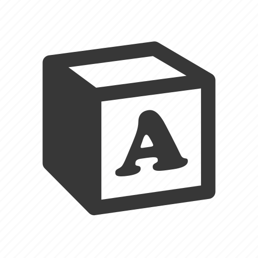 block, education, learning, letter block, raw, school, simple, study, toy icon