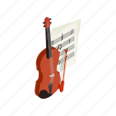 classical, instrument, isometric, music, musical, string, violin icon